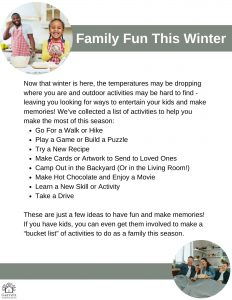 Winter Toolkit - Fun Activities