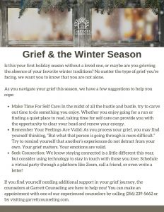 Winter Toolkit - Grief