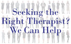 sometimes finding the right licensed therapist means a black therapist or lbgqt educated one
